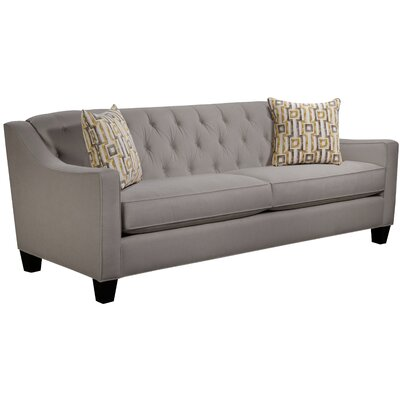 Ingersoll Sofa Body Fabric: Hobnob Platinum, Pillow Fabric: Zeus Zest