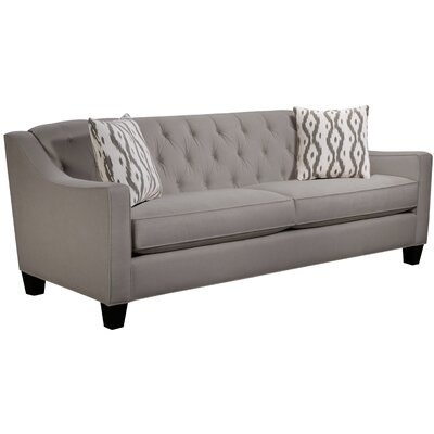 Ingersoll Sofa Body Fabric: Hobnob Platinum, Pillow Fabric: Mod Ikat Gray
