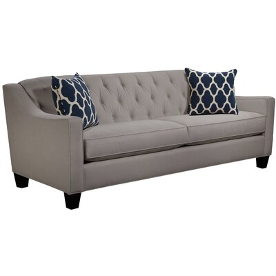 Ingersoll Sofa Body Fabric: Hobnob Platinum, Pillow Fabric: Strathmore Oceanside