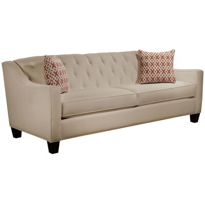 Ingersoll Sofa Body Fabric: Gaberdine Raffia, Pillow Fabric: Essex Citrine