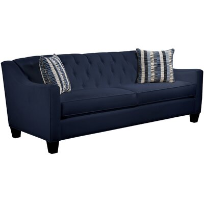 Ingersoll Sofa Body Fabric: Gaberdine Navy, Pillow Fabric: Gekko Blue