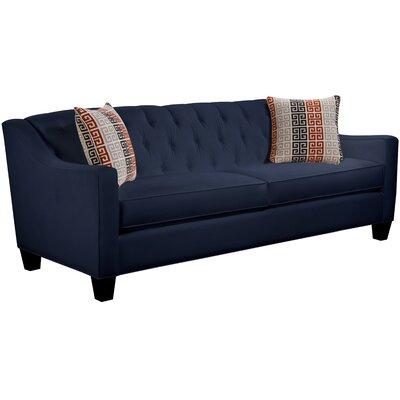 Ingersoll Sofa Body Fabric: Gaberdine Navy, Pillow Fabric: Moana Persimmon