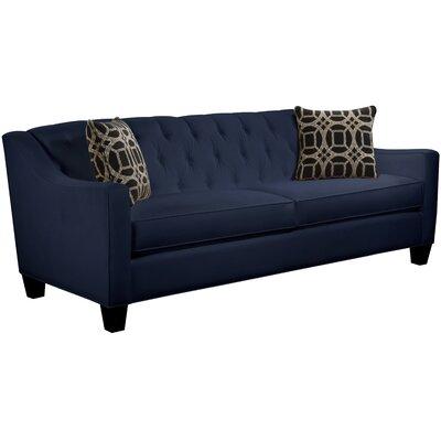 Ingersoll Sofa Body Fabric: Gaberdine Navy, Pillow Fabric: Charlestown Marble