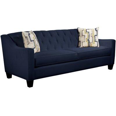 Ingersoll Sofa Body Fabric: Gaberdine Navy, Pillow Fabric: Exosure Denim
