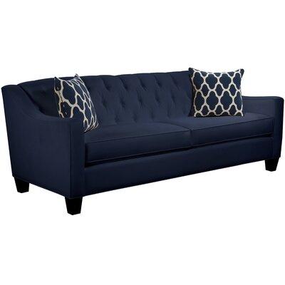 Ingersoll Sofa Body Fabric: Gaberdine Navy, Pillow Fabric: Strathmore Oceanside