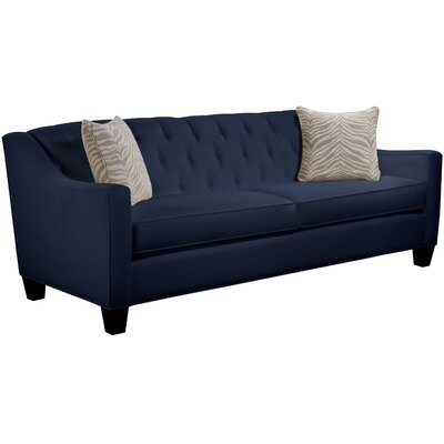 Ingersoll Sofa Body Fabric: Gaberdine Navy, Pillow Fabric: Safari Stone