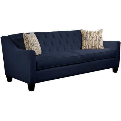 Ingersoll Sofa Body Fabric: Gaberdine Navy, Pillow Fabric: Zeus Zest