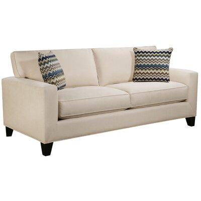 Dringenberg Track Arm Sofa Body Fabric: Gaberdine Navy, Pillow Fabric: Blooms Collins