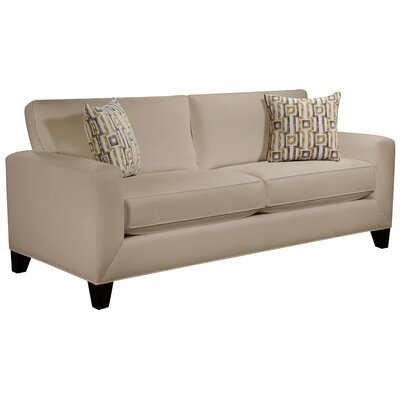 Dringenberg Track Arm Sofa Body Fabric: Gaberdine Raffia, Pillow Fabric: Zeus Zest