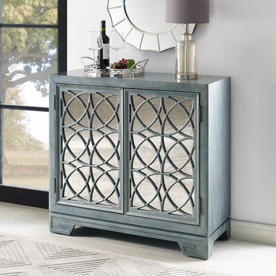 Stevenson Modern Style 2 Door Accent Bar Cabinet with Undertone
