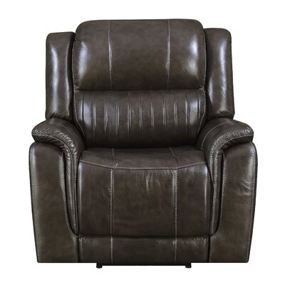 Guineau Leather Power Recliner