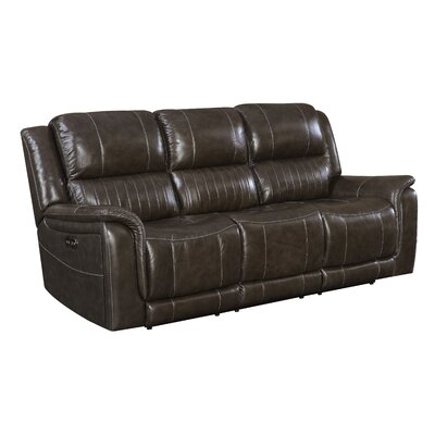 Guineau Leather Reclining Sofa