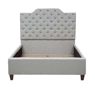 Jerrie Button Tufted Upholstered Panel Bed Size: Queen