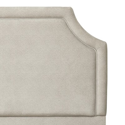 Anabelle Clip Corner Herringbone Upholstered Panel Headboard Size: Queen