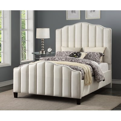 Livilla Channeled Upholstered Panel Bed Size: King