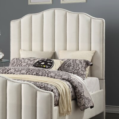 Addilynn Channeled Upholstered Panel Headboard Size: Queen