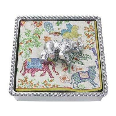 Elephant Beaded Napkin Box 2884-C