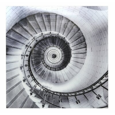 Glasbild Wendeltreppe | Baumarkt > Leitern und Treppen | Weißschwarz | Urban Designs