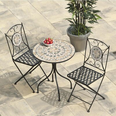 2-Sitzer Balkonset Algiers | Garten > Balkon > Balkon-Sets | Schwarzbraun | Urban Designs