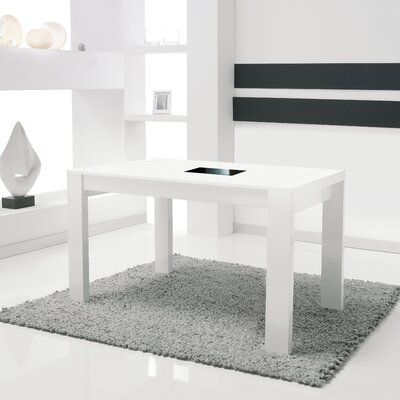 Bacchus Extendable Dining Table Finish: White