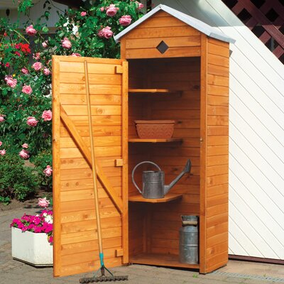 76 cm x 49 cm Werkzeugschuppen Piccolo aus Massivholz | Garten > Gerätehäuser | Brown | Kiefernholz - Massivholz | Castleton Home