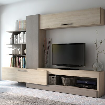 Malinowski 106.3 Entertainment Center Color: Oak/Gray, Width of TV Stand: 106.3