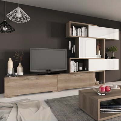 Maloy 59.1 Entertainment Center Color: Nebraska/White