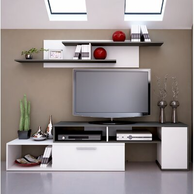 Dufrene 98.4 Entertainment Center Color: White/Anthracite