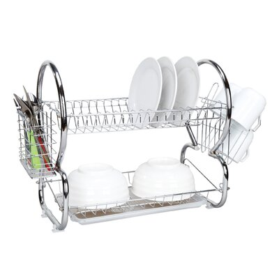 2 Tier Dish Drainer Finish: Chrome