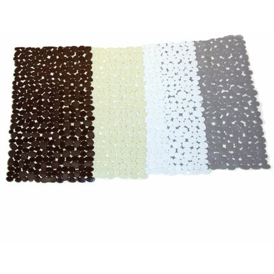 Rubber Stone Bath Mat Color: White