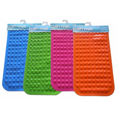 Rubber Bath Mat Color: Orange