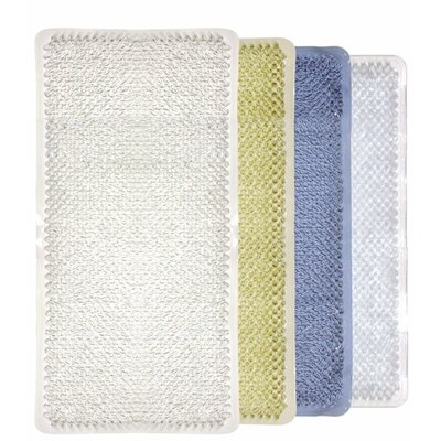 Rubber Grass Bath Mat Color: Clear