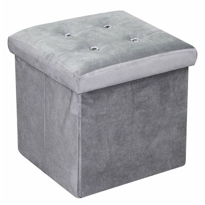 Ottoman with Stones Upholstery: Grey