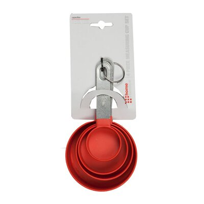 4 Piece Measuring Cup Set Color: Red KT01812-RED