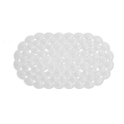 Shells Rubber Bath Mat (Set of 2) Color: White