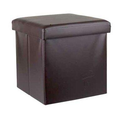 Storage Ottoman Upholstery: Brown