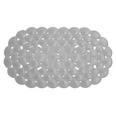 Shells Rubber Bath Mat (Set of 2) Color: Gray
