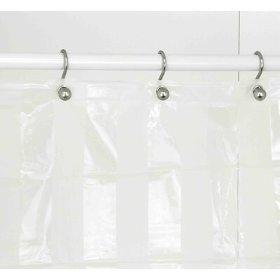 Shower Curtain Color: Clear/White