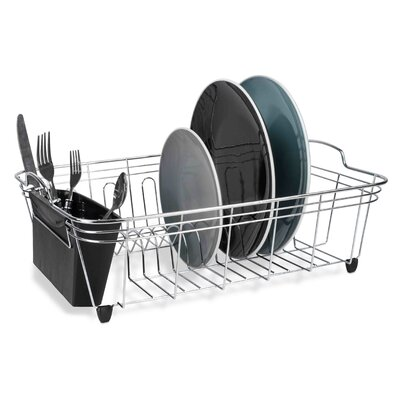 Dish Rack Finish: Silver/Black