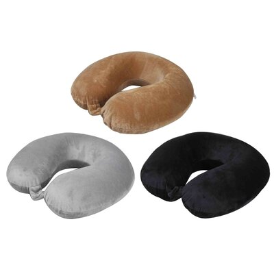 Travel Memory Foam Pillow Color: Brown