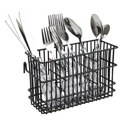 Hanging Cutlery Flatware Caddy (Set of 2) Color: Black REBR2187 39340224