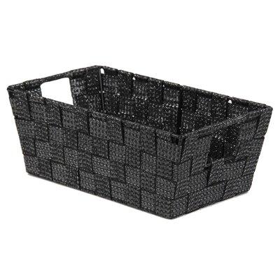 Strap Handle Non-Woven Basket Color: Black REBR2215 39340266