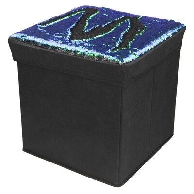 Mermaid Storage Ottoman Upholstery: Mermaid/Black