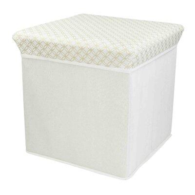 Blossom Storage Ottoman Upholstery: White/Gold