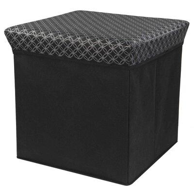 Blossom Storage Ottoman Upholstery: Black/Silver