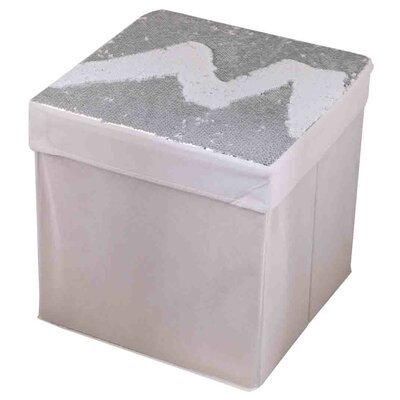 15 Mermaid Storage Ottoman Upholstery: White/Silver