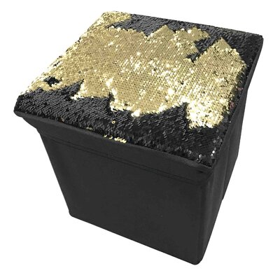 Mermaid Storage Ottoman Upholstery: Gold/Black
