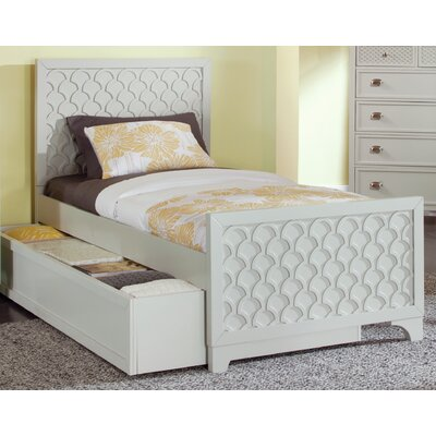 Amanda Panel Headboard Size: Twin, Finish: Dove Grey