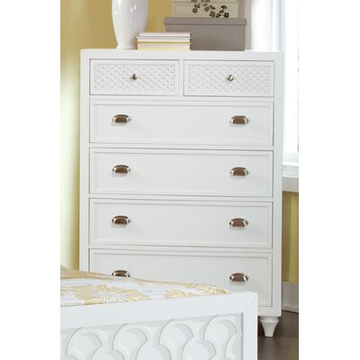 Amanda 6 Drawer Chest Color: Creamy