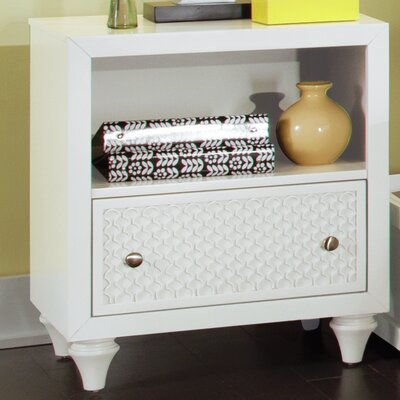 Amanda 1 Drawer Nightstand Finish: Bright White